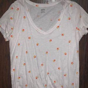 Pink peaches shirt